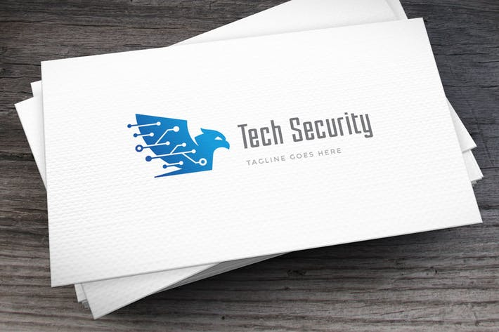 Thumbnail for Tech Security Logo Template