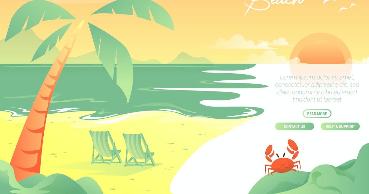 Download Beach - Vector Landscape & building by aqrstudio
