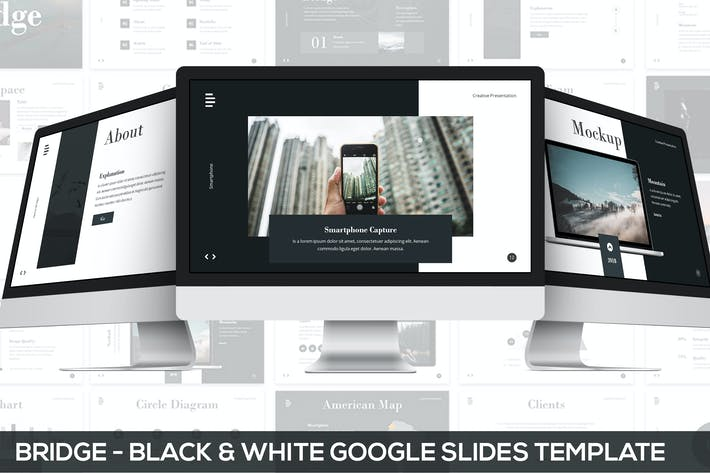 Thumbnail for Bridge - Black & White Google Slides Presentation