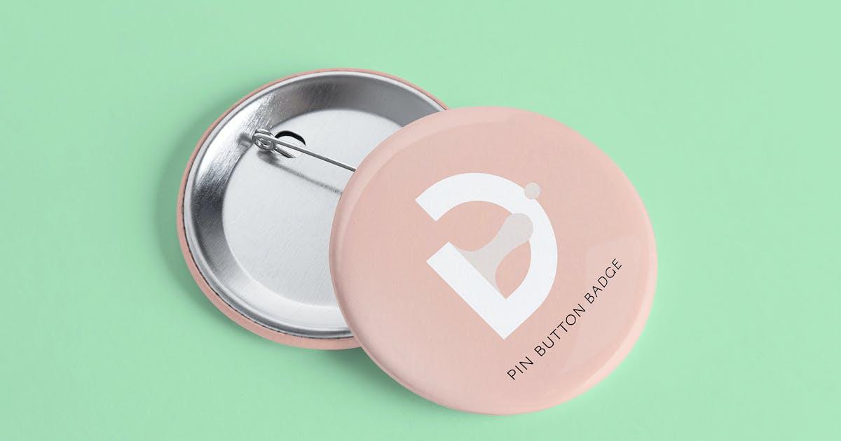 Download Badge Button Mockup by RetroBox
