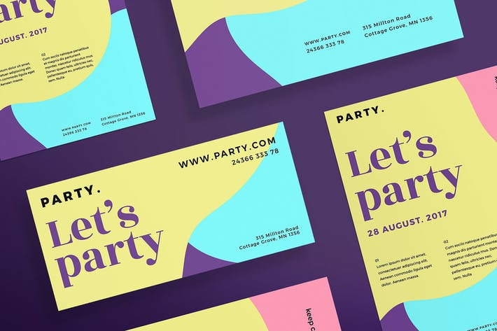 Thumbnail for Color Party Flyer and Poster Template
