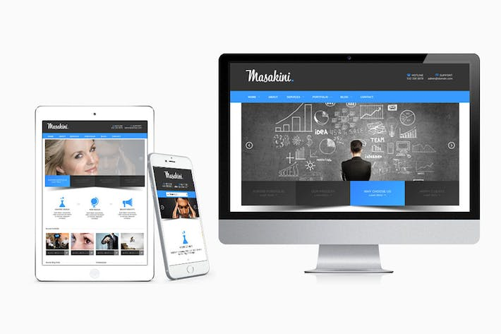 Thumbnail for Masakini Multi-purpose Responsive HTML Template