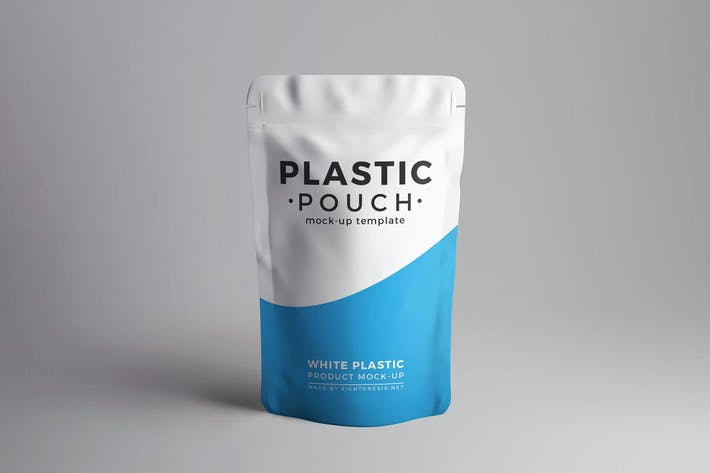 Cover Image For Plastic Pouch Product Mock-Up