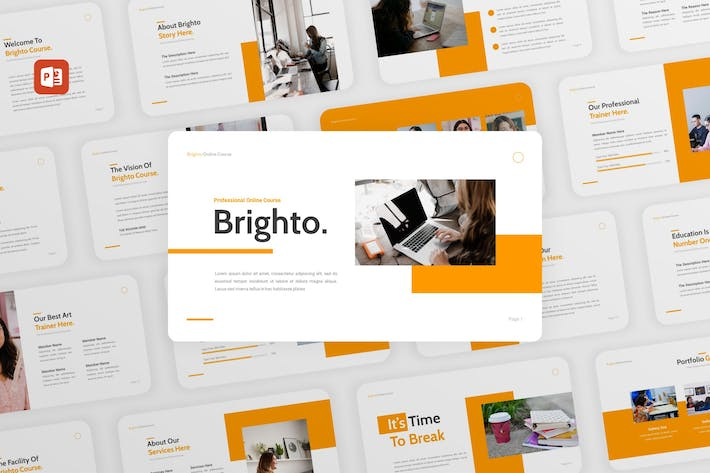 Thumbnail for Brighto - Online Course PowerPoint Template