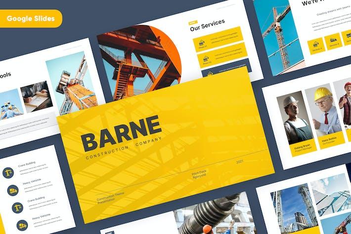 Thumbnail for BARNE - Construction Google Slides Template