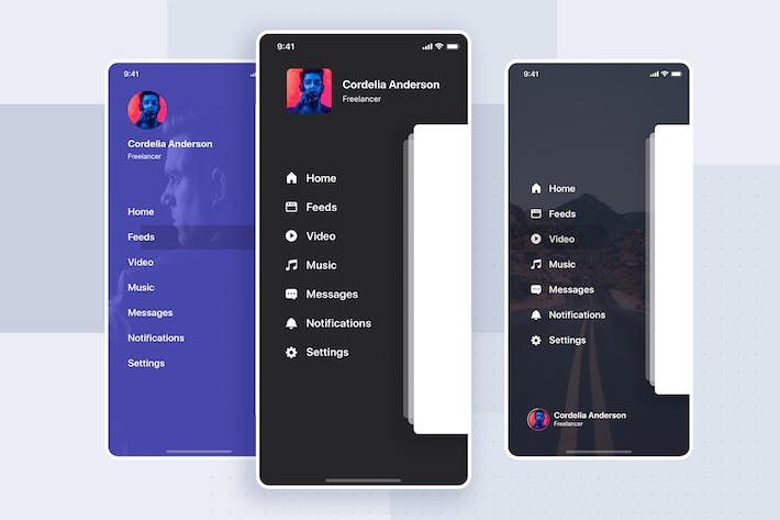 Thumbnail for Navigation UI Mobile Template