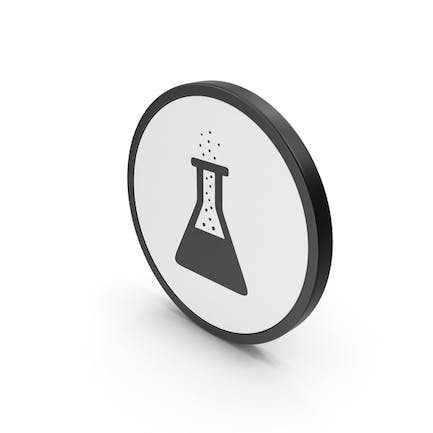 Icon Erlenmeyer Flask with Bubbles