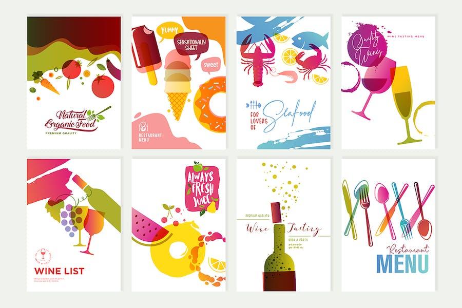 Set of menu and brochure design templates