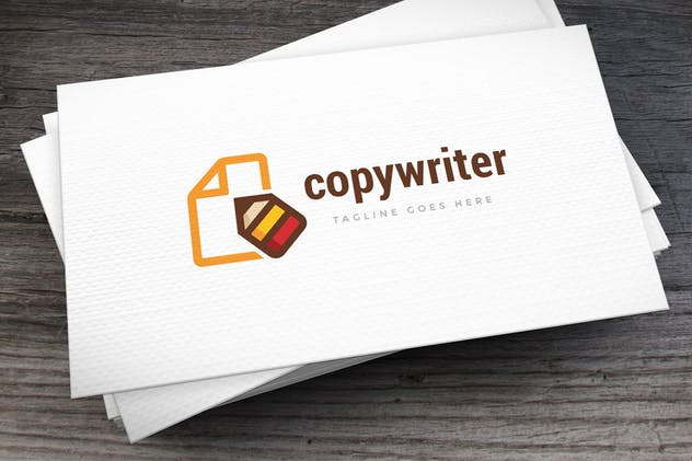 Copywriter Logo Template - product preview 2