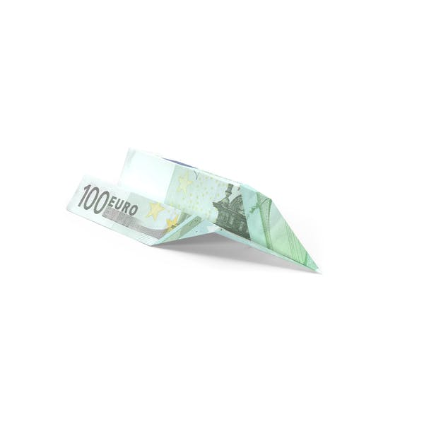 100 Euro Bill Paper Airplane