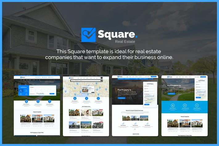 Thumbnail for Square - Professional Real Estate PSD Templates