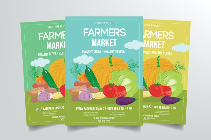 Cover Image For Farmers Market Flyer Template