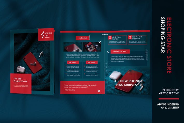 Thumbnail for Phone - Techno Bifold Brochure