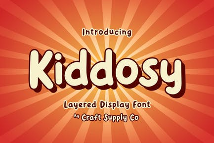 Kiddosy - Layered Display Font