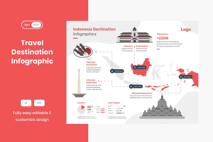 Travel Infographic: Indonesia