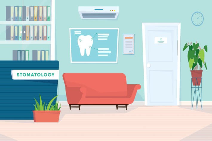 Thumbnail for Dentistry Waiting Room - Illustration Background