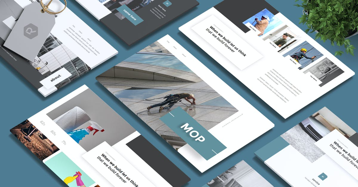 Download MOP - Cleaning Service Powerpoint Template by RahardiCreative