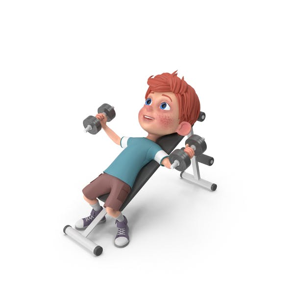 Thumbnail for Cartoon Boy Charlie Lifting Dumbbells