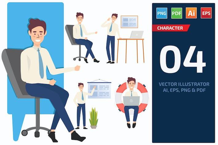 Thumbnail for Businessman Character Set 6
