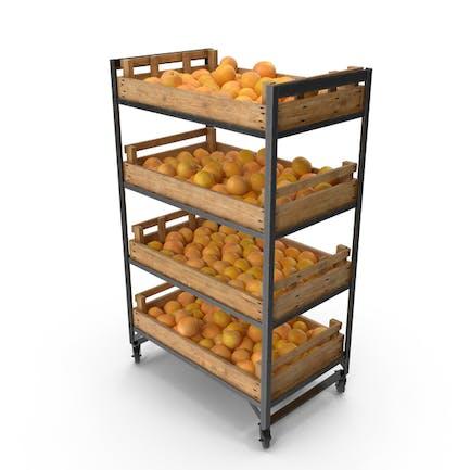 Retail Shelf With Grapefruits