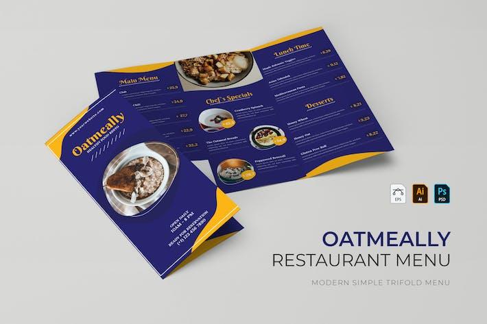 Oatmeally | Restaurant Menu