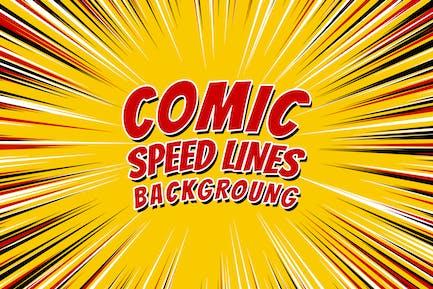 Comic Radiale Explosionsgeschwindigkeit Linien
