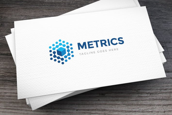 Data Metrics Logo Template