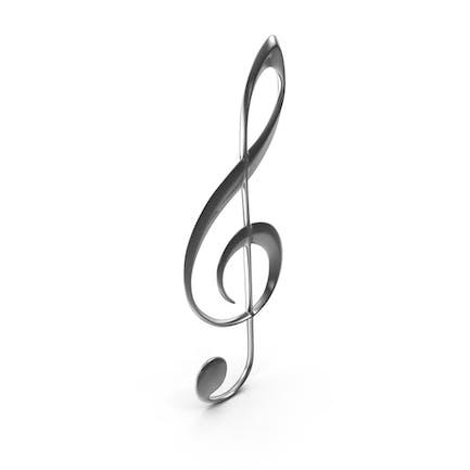 Violinschlüssel Silber
