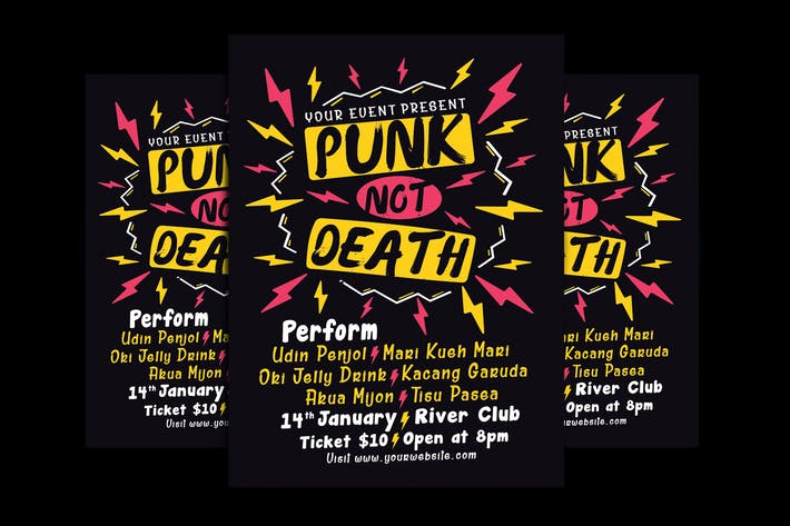 Thumbnail for Punk Music Event Flyer