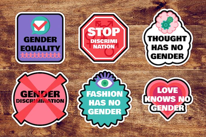 Gender Sticker Set