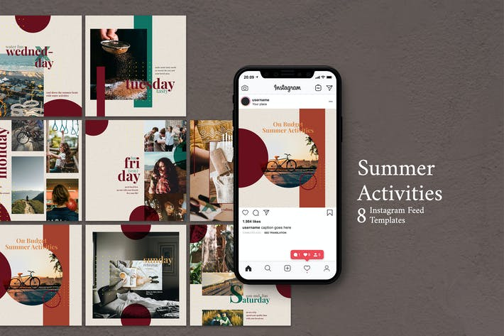 Thumbnail for Summer Activities - Instagram Post Template
