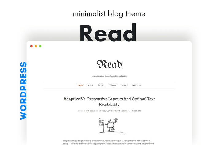 Lesen Sie WP - Minimalist WordPress Blog Thema