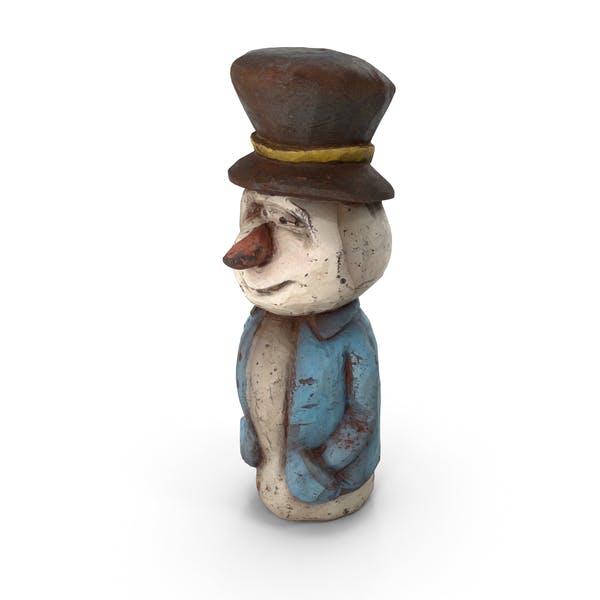 Thumbnail for Rusty Metal Snowman Sculpture