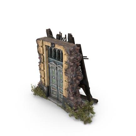 Puerta abandonada antigua