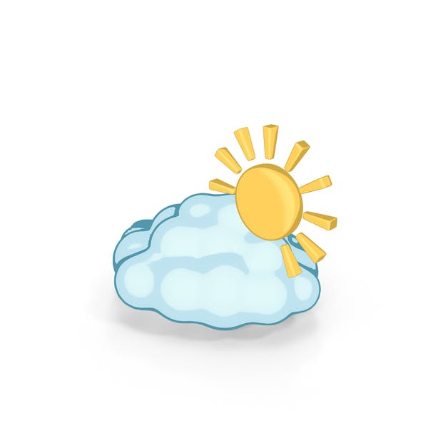 Thumbnail for Weather Forecast Cartoon Partly cloudy