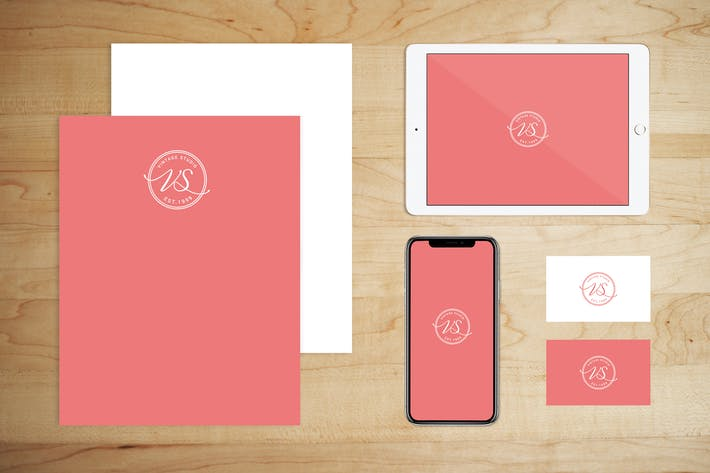 Thumbnail for Stationery Brand Paper and Tech Mock Up