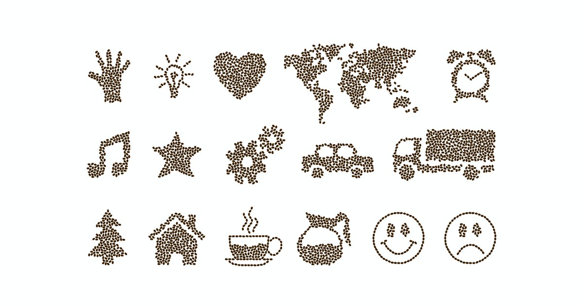 Download Coffee Beans Arranged Illustration by YummyDs