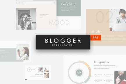 Blogger - Simple Powerpoint Template