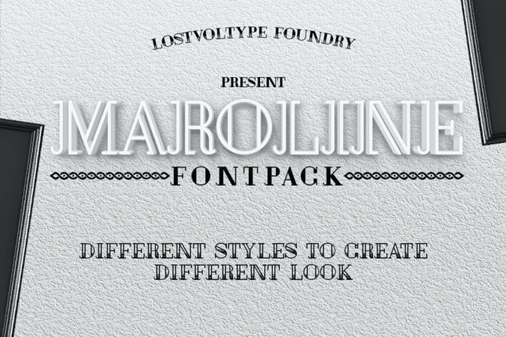 Thumbnail for Maroline Fontpack Cover case Negro