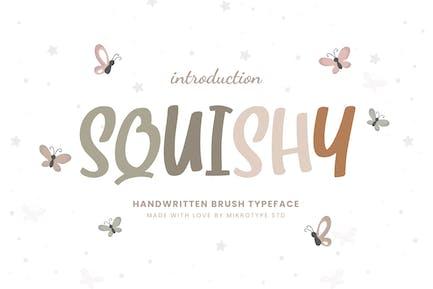 Squishy Brush Business Font