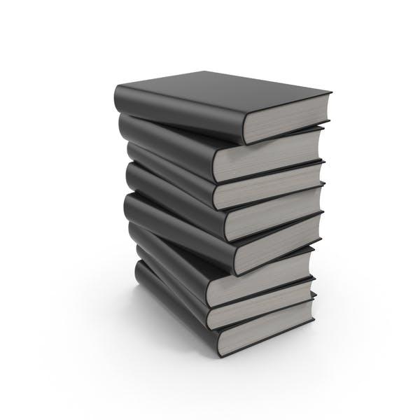 Pila de Libro negros