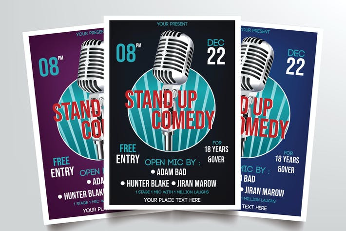 Thumbnail for Stand Up Comedy Vol.2 Flyer Template