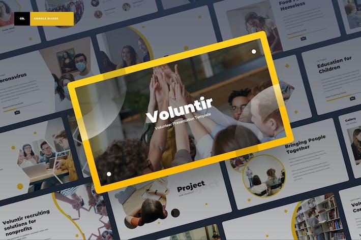 Thumbnail for Voluntir - Волонтер Google Слайды Презентация