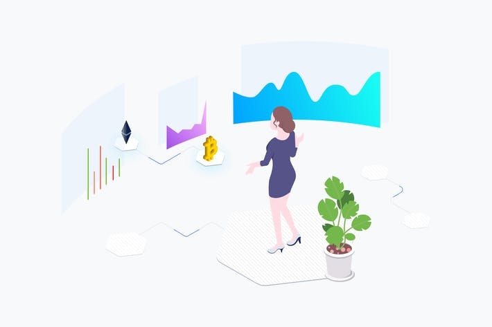 Thumbnail for Exchange Cryptocurrency Isometric Illustration