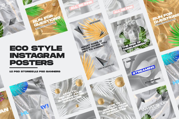 Thumbnail for Eco Style Instagram Posters