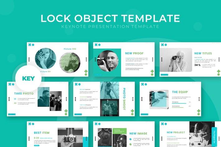 Thumbnail for Блокировка объекта - Шаблон Keynote