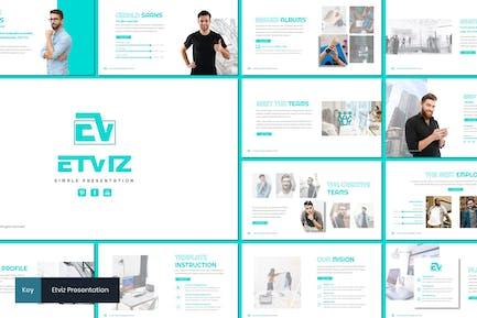 Etviz - Простой Шаблон Keynote