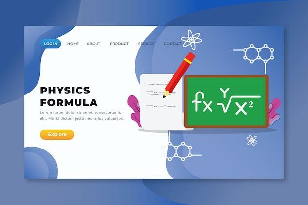 Physics Formula - XD PSD AI Vector Landing Page