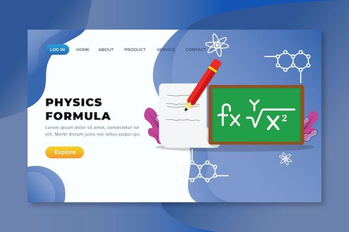 Thumbnail for Physics Formula - XD PSD AI Vector Landing Page
