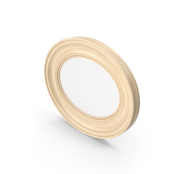Thumbnail for Oval Wooden Picture Frame